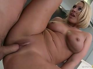 blonde bus busty