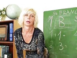 ass blonde classroom