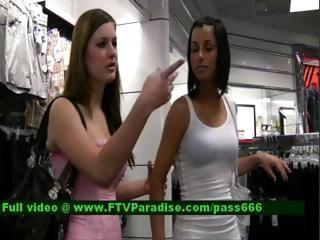 brunette shop teen
