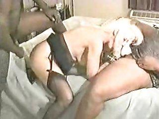 black blonde cum