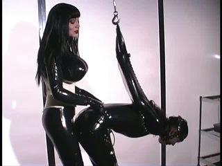 latex slave tied