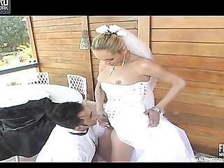 bride male outdoor