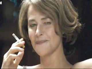 lingerie milf smoking