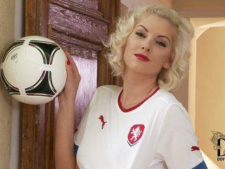 blonde czech model