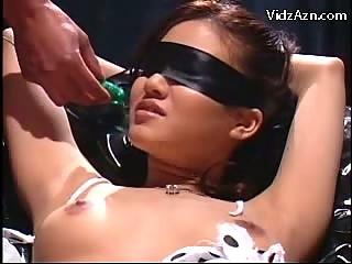 blindfolded bondage fingered