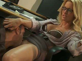 ass blonde glasses