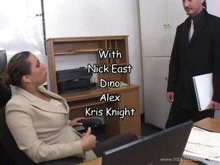 brunette milf office
